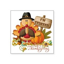 "1st thanksgiving copy Square Sticker 3"" x 3"""