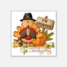 "1st thanksgiving copy Square Sticker 3"" x 3"""