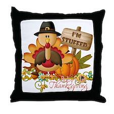 1st thanksgiving copy Throw Pillow