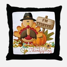 1st thanksgiving copy Throw Pillow