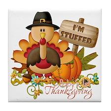1st thanksgiving copy Tile Coaster