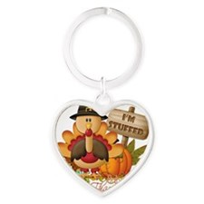 1st thanksgiving copy Heart Keychain