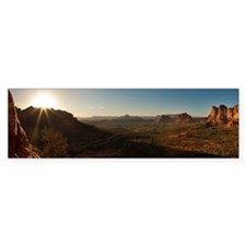 BELL ROCK VIEW_14x6_FRAMED Bumper Sticker
