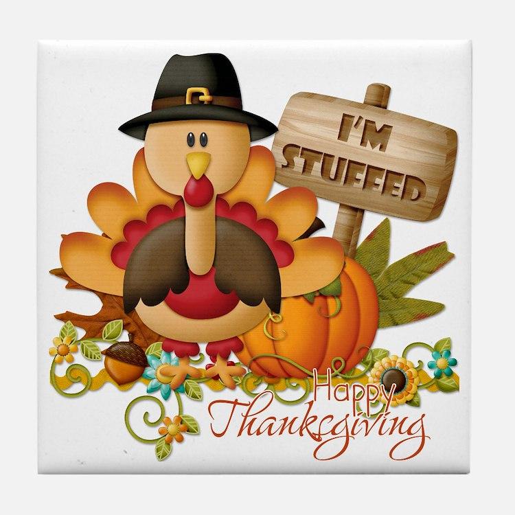 thanksgiving copy Tile Coaster