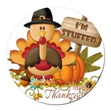 thanksgiving copy Round Car Magnet