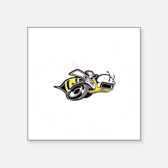 """Super Bee White PNG Square Sticker 3"""" x 3"""""""