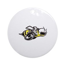 Super Bee White PNG Round Ornament