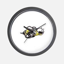 Super Bee White PNG Wall Clock