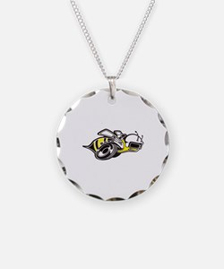 Super Bee White PNG Necklace