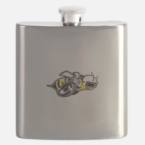 Super Bee White PNG Flask