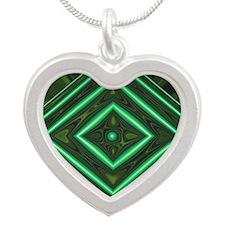 Jade2 Silver Heart Necklace