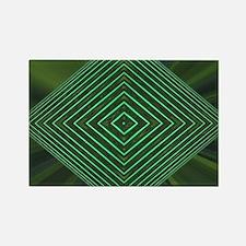 Jade Web Rectangle Magnet
