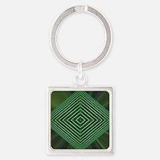Jade Web Square Keychain