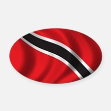 trinidad_flag Oval Car Magnet