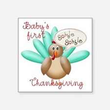 "gobble gobble copy Square Sticker 3"" x 3"""
