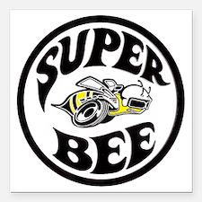 "Super Bee PNG Square Car Magnet 3"" x 3"""