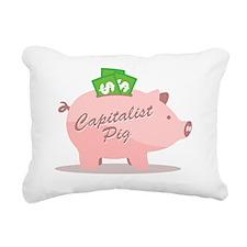 capitalist_pig_pk Rectangular Canvas Pillow