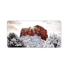 Snow Courthouse Butte Sedon Aluminum License Plate