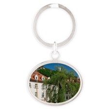 Ljubljana (Slovenian Capital): Build Oval Keychain