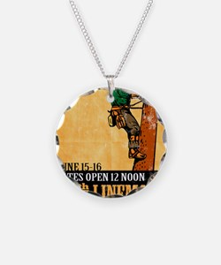 power lineman electrician re Necklace