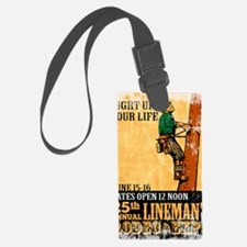 power lineman electrician repair Luggage Tag