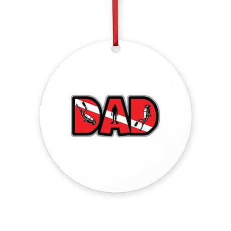 SCUBA Dad Ornament (Round)