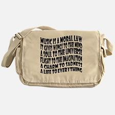 music is a moral law master 2 black Messenger Bag