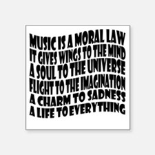"music is a moral law master Square Sticker 3"" x 3"""