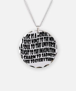 music is a moral law master  Necklace