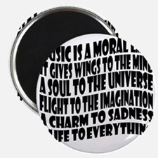 music is a moral law master 2 black Magnet