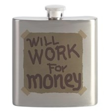 Will work for money Flask