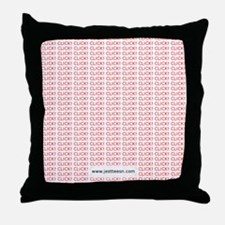 clickclickclick-mousepad-red Throw Pillow