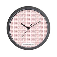clickclickclick-mousepad-red Wall Clock