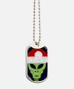 Xmas hat Alien iPhone case Dog Tags