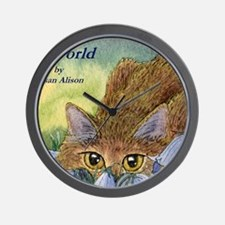 cats 2 cov the harebell stalk Wall Clock