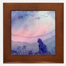 cats 2 spring promise Framed Tile
