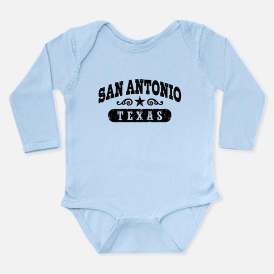 San Antonio Texas Long Sleeve Infant Bodysuit