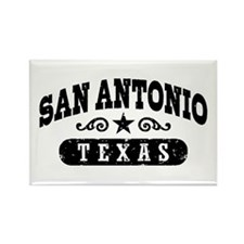 San Antonio Texas Rectangle Magnet