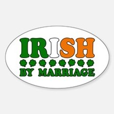Irish by Marriage Tricolor Oval Decal