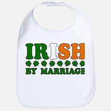 Irish by Marriage Tricolor Bib