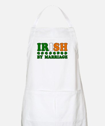 Irish by Marriage Tricolor BBQ Apron