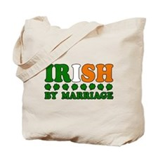 Irish by Marriage Tricolor Tote Bag