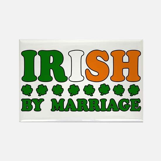 Irish by Marriage Tricolor Rectangle Magnet