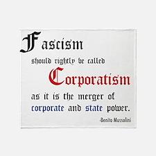 fascismT Throw Blanket