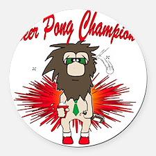 Beer pong champ Round Car Magnet