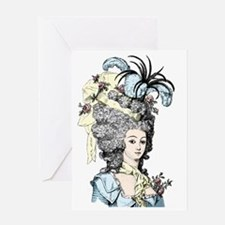 Versailles Lady Greeting Card