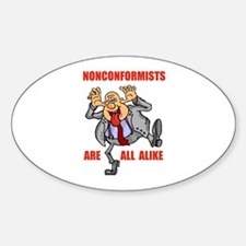 NONCONFORMIST Oval Decal