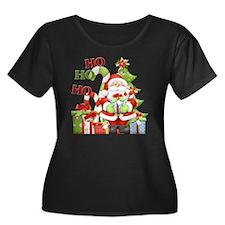 ho ho ho Women's Plus Size Dark Scoop Neck T-Shirt