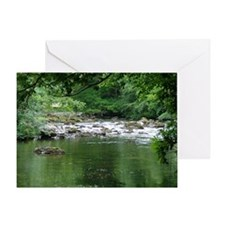 Tranquil river blank card Greeting Cards
