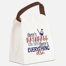 baseball then eleverything else Canvas Lunch Bag